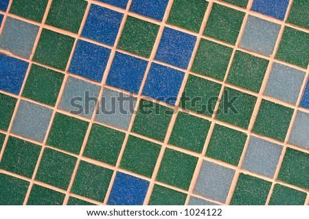Coloured mosaic tiles - stock photo