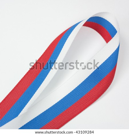 coloured ribbon without a medal - stock photo