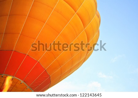 Colourful air balloon beautiful - stock photo