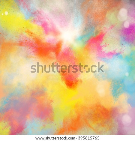 Colourful burst - stock photo