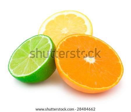 colourful citrus slices - stock photo