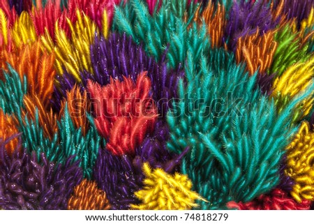 colourful feathers background - stock photo