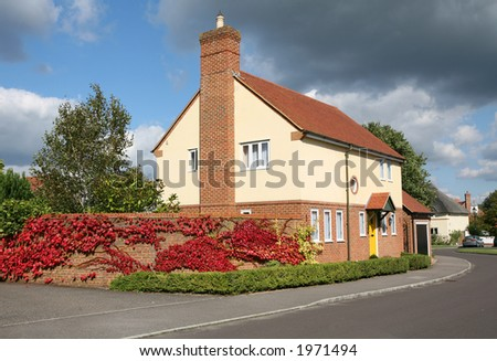 Colourful House - stock photo