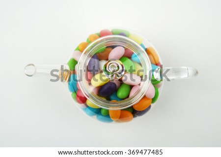 colourful jelly bean - stock photo