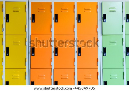 Colourful locker abstract background