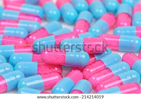 colourful medical pills - stock photo