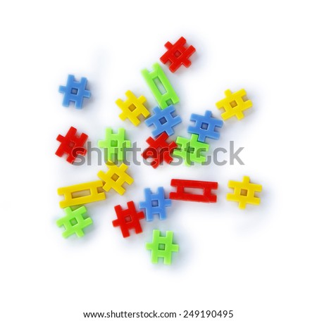 Colourful of construction toys, abstract of construction, stable  organization, stable business. - stock photo