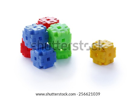 Colourful of construction toys, abstract of construction, stable  organization, stable business - stock photo