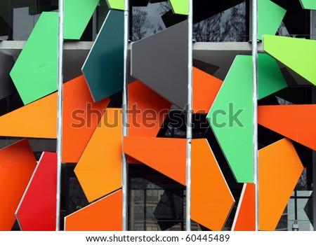 Colourful office building in Melbourne Australia - stock photo