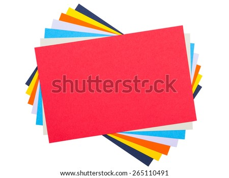 Colourful Paper isolated on white - stock photo