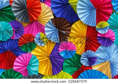 colourful papers background.  - stock photo