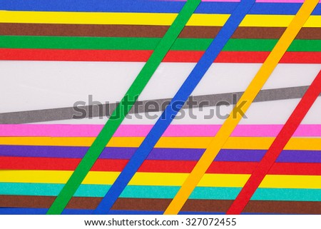 colourful papers background. Rainbow colored paper close up