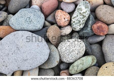 Colourful  pebbles on the beach. Batumi. Georgia. - stock photo
