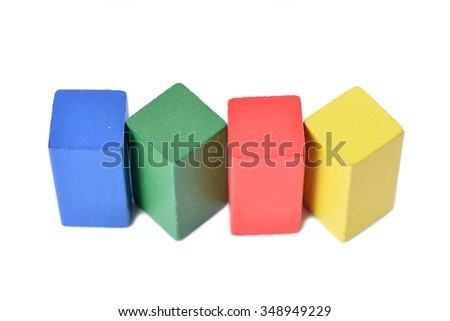 Colourful stacked blocks