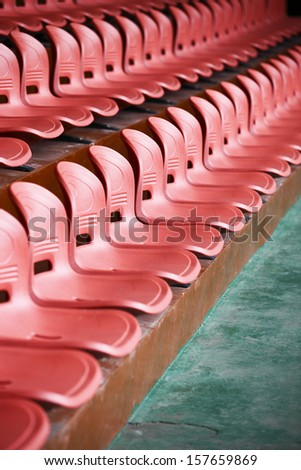 colourful stadium seat