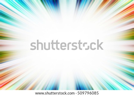 Colourful starburst explosion border with a white copy space centre