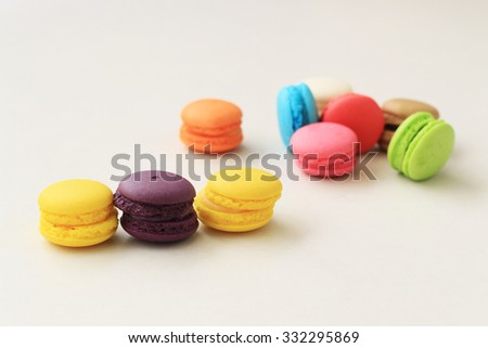 Colourful tasty macaroons