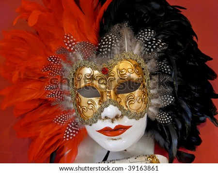Colourful Venetian mask