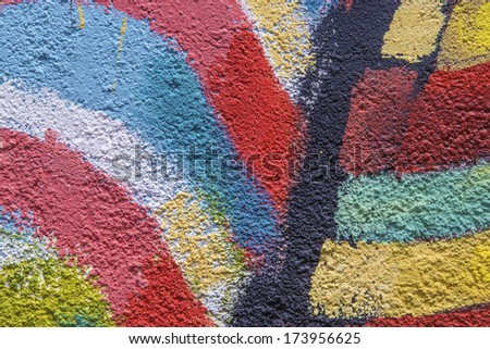 Colourful wall (background)  - stock photo