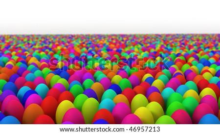 colourfull easter eggs - stock photo