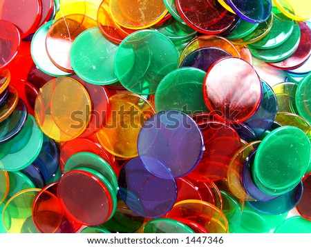 colourfull plastic counters