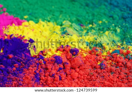 colours for holi festival - stock photo
