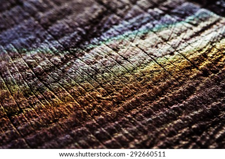 Colours palette on wood - stock photo