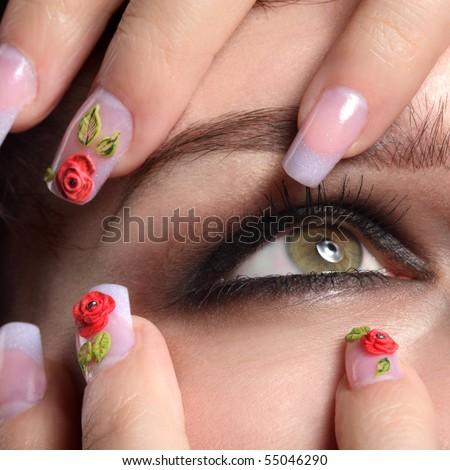 colse-up eye and - stock photo
