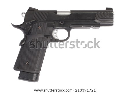 colt government m1911 - air gun isolated on white