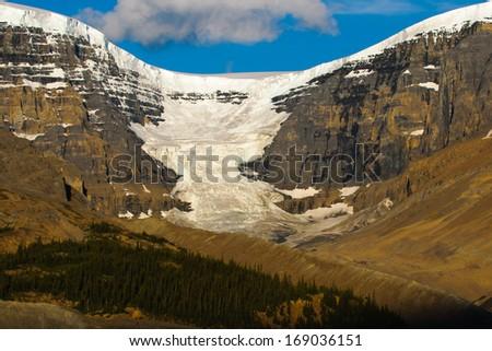 Columbia Icefields, Highway 93 Banff National Park Alberta Canada - stock photo