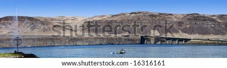 Columbia River at Vantage, Washington - stock photo