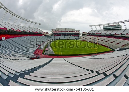 COLUMBIA, SC - JUN 9:  Williams-Brice Stadium is the home football stadium for the South Carolina Gamecocks, representing the University of South Carolina in Columbia, South Carolina on June 9, 2009. - stock photo