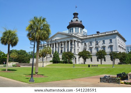 COLUMBIA SOUTH CAROLINA JUNE 24 2016: South Carolina State House is the building housing the government, General Assembly Governor and Lieutenant Governor of South Carolina.