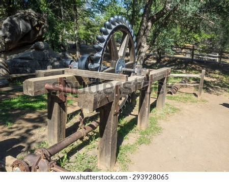 Columbia State Historic Park is a state park preserving historic downtown Columbia, California, USA. It includes almost 30 buildings built during the California Gold Rush. - stock photo
