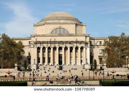Columbia University Library - stock photo