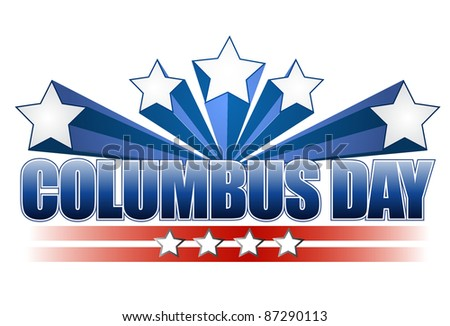 columbus day illustration design on white