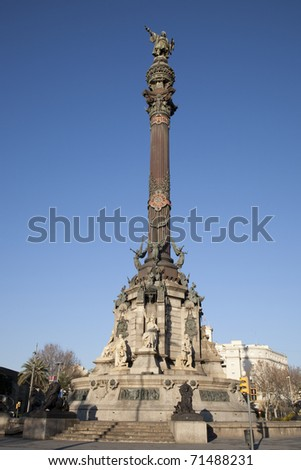 Columbus Monument in Barcelona, Catalonia, Spain