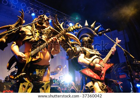 COLUMBUS, OH - SEPTEMBER 19: Thrash metal band Gwar perform at the Newport Music Hall on September 19, 2009 in Columbus, Ohio.