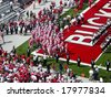 COLUMBUS, OHIO-SEPTEMBER 6: The Ohio State Buckeyes get ready to take the field - stock photo