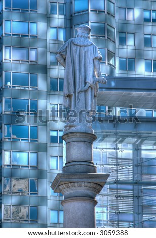 Columbus Statue - Columbus Circle - Manhattan - New York - United States of America - stock photo