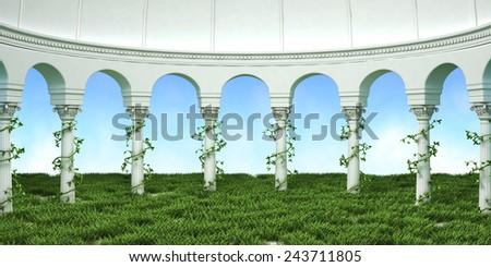 Column Arc Nature Background - stock photo