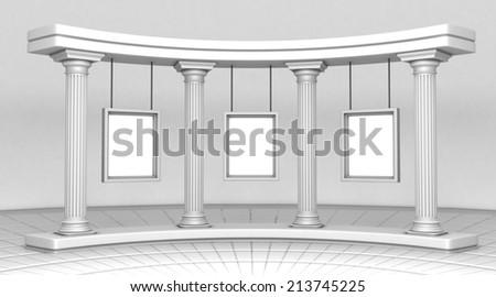 Column Gallery - stock photo