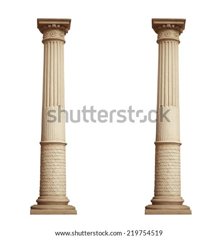 column isolated on white background - stock photo