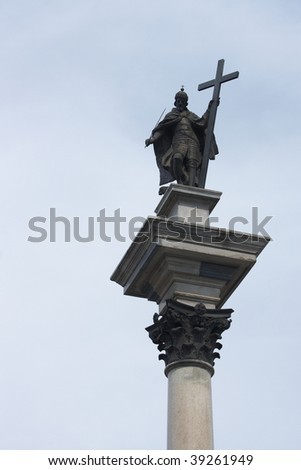 Column of The King Sigismund III Wasa in Warsaw, Poland - stock photo