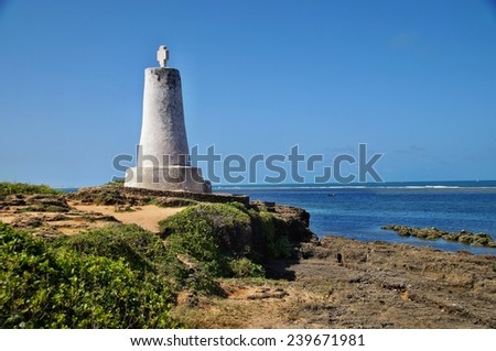 Column of Vasco da Gama, Malindi, Kenya - stock photo