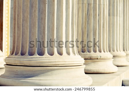 Column, Pillars detail , Instagram Look  - stock photo