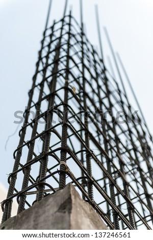 column structure - stock photo