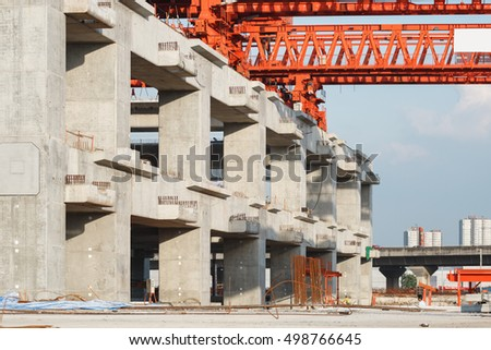 column support of  erection bridge box girder