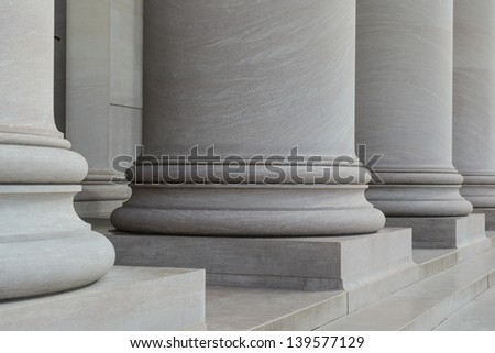 Columns and Steps - stock photo