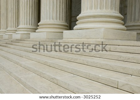 Columns and steps background texture U.S. Supreme Court building